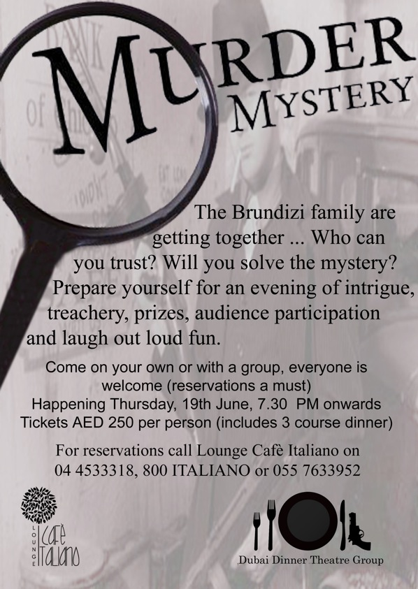 murder mystery events: