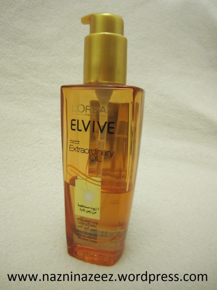 Review : Loreal Elvive Extraordinary hair oil!